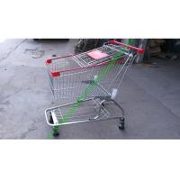 Buy cheap Iron Wire Shopping Cart , Powder Coated Grocery Shopping Trolley With Elevator Wheels from wholesalers