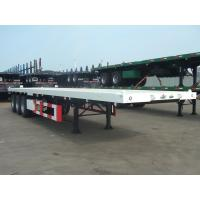 20 feet 2 axles Carbon Steel Flat Bed Container Semi-Trailer 9302TJZP20F