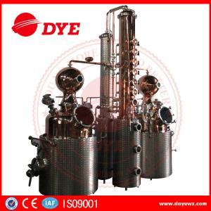 China 66 Gal Industrial Copper Distillery Equipment Vodka Copper Alcohol Distiller on sale
