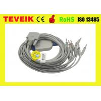 Buy cheap Banana 4.0 pulg Nihon Kohden One-piece 10 leads ECG/EKG Cable with DB 15pin for from wholesalers