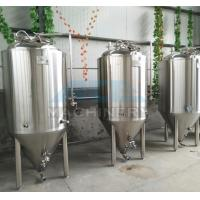 Buy cheap 1000L Red Copper Shell Inner Stainless Steel Three Vessels Brewhouse with PU Instualtion product