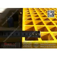 Buy cheap 1.22 X 3.44m Fiberglass Reinforced Plastic Molded Grating | ABS Certificated product