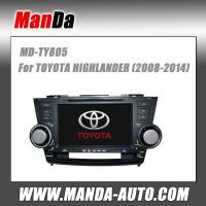Buy cheap 2 din car dvd gps for TOYOTA HIGHLANDER ( 2008 2009 2010 2011 2012 2013 2014 ) in-dash navigation gps product