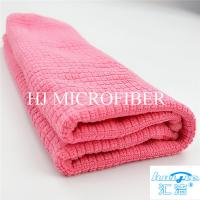 China Microfiber Cleaning Cloth Towel Weft Knitted Cloth For Kitchen Red Color 16 Washing Tools on sale