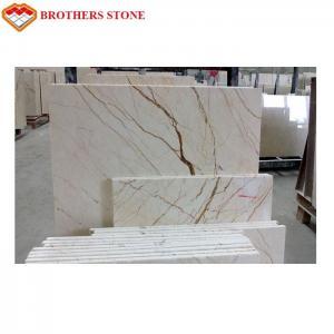Buy cheap Floor Decor Sofitel Gold Marble Stone Tile With Polished Surface Finishing product