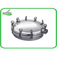 China Metal Stainless Steel Manhole Cover / Tank Manhole Cover For Pressure Vessel on sale