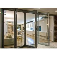 Buy cheap European Style Aluminium Glass Folding Doors Waterproof / Soundproof ISO 9001 Approved product