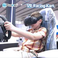 Buy cheap Kids Playing Virtual Reality Racing Simulator / Car Racing Simulator 0.7KW product