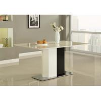 Buy cheap White Paint Square Steel Marble Dining Tables Modern for Island Resort Room from Wholesalers