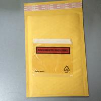 Buy cheap Golden / Yellow Padded Envelopes With Documents Enclosed / Attached Pouch product