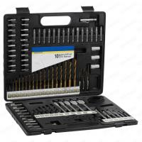 Buy cheap 101pcs Metal Case Packaging Drill Bit Set with Masonry Drill Bit and SCREWDRIVER BITS product