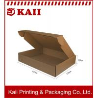 Buy cheap Brown Corrugated Paper Box / Corrugated Cardboard Boxes / Custom Packaging Boxes For Cloth Packing product