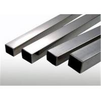 Buy cheap 201 304 316L Stainless Steel Square Pipe Stock Precise Cutting High Production Efficiency product