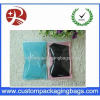 Buy cheap Front Transparent custom zipper pouches pack clothes Back Side PINK Color product