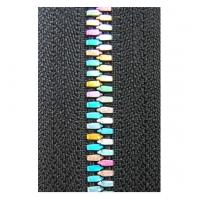 Buy cheap 5# Metal Black Rainbow Teeth Zippers Polyester yarn For Clothes product