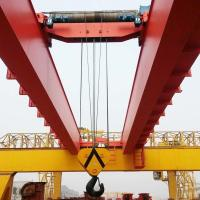 Buy cheap 20ton electric double girder overhead crane with magnet price product