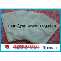 Buy cheap Disposable Wash Gloves Made of Highly Absorbent Non Woven Polyester / Viscose Material product