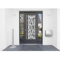 Buy cheap 22*64 Inch Wrought Iron Security Doors Glass Agon Filled Shaped Wrought Iron Exterior Doors product