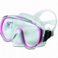 Buy cheap Fashionable Diving Mask with Tempered Glass Lens and Adjustable Head Strap product