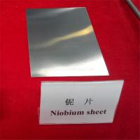 China high quality Smooth bright annealed niobium plates/sheets for sale on sale
