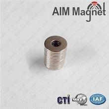Buy cheap D10xd3.7x1.5mm neodymium ring magnet N35 grade Zinc coating product