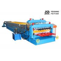 Buy cheap 1100 Glazed Tile Double Layer Roll Forming Machine For Building Material product