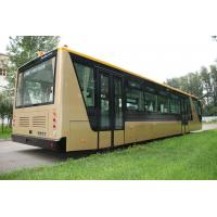 Buy cheap Low Carbon Alloy Steel 51 Passenger Airport Apron Bus , 4 Strok Diesel Engine Bus product