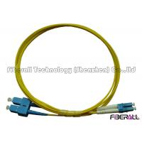 Buy cheap SC To LC Fiber Patch Cable , Optical Fiber Patch Cord SM Duplex With Pulling Eye product