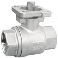 Lockable Device Available  SS 3PC Clamp End Ball Valves with ISO5211 Mounting Pad  CF8M / CF8 / WCB Material