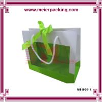 Buy cheap Fancy high quality retail paper bag wholesale with ribbon closure and clear window product