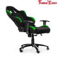 Comfortable High End Gaming Chair , Green And Black Race Car Office Chair