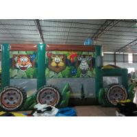 Buy cheap Durable Funny Custom Made Inflatables Bus Obstacle Course Jump House 5 X 8 X 5m product
