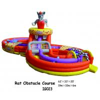 Air Mattress Blower Rat Obstacle Course Inflatable Fun City / Inflatable Bounce For Kids ...