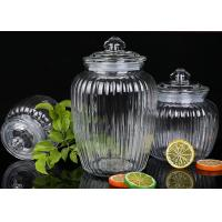 Buy cheap 1350ml Capacity Glass Jam Jar With Lid / Durable Glass Jar For Spicy Beans product