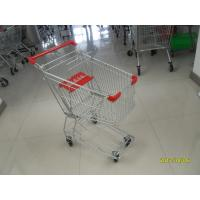 Buy cheap Zinc Plating Powder Coating Grocery Shopping Cart With Anti UV Handle 100L product