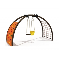 Buy cheap Climbing Frame ASTM Plastic Swing Sets For Child from wholesalers