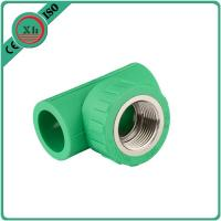 Buy cheap Reliable PPR Female Threaded Tee Green / White Color Smooth Internal Surface product