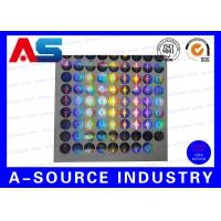 Buy cheap Silver Security Custom Holographic Stickers Label Tamper Proof Seal Custom Design product