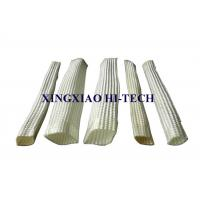 Buy cheap White Color Wall Braided Heat Insulation Sleeve Flame Retardant 2.0 - 150mm product