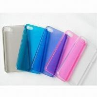 Buy cheap TPU cases/transparent TPU gel cases for iPhone 5, with shiny pattern outside product