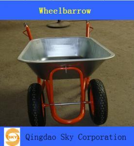 China two wheel  Wheelbarrow/ wheel barrow  used for Garden and Construction on sale