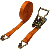 Buy cheap 2T J Hook Ratchet Tie Down Straps , 8M Cargo Lashing Straps product