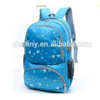 Custom blue eyes double compartments backpack fashion college bags