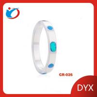 Buy cheap Beautiful ceremic ring with sapphire white ceramic ring for girls for retail product