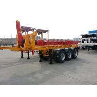 Buy cheap 2 axle and   tri axle  hydraulic cylinder tipping container chassis - TITAN VEHICLE product