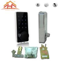 China High Security Bluetooth Smart Door Lock Touch Screen Keyless Wireless Remote Control on sale