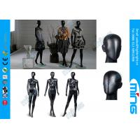 China Glossy Black Full Standing Female Body Mannequin / Fiberglass Female Body Display on sale