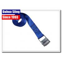 China Durable Cam Lock Tie Downs , Canoe Tie Down Straps With Zinc Plated Buckle on sale