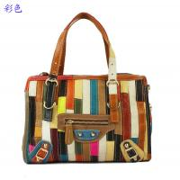 Buy cheap white leather patchwork with black cow leather tote purse for women product