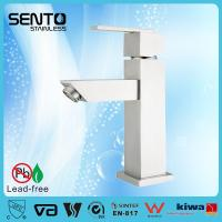 Buy cheap Stainless steel deck mount single hole basin faucet product